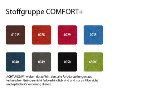 Stoffgruppe Comfort+
