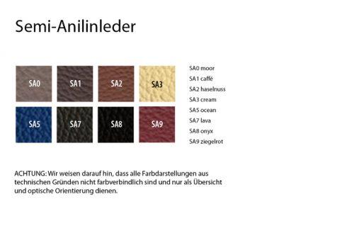 Stoffgruppe Semi Anilinleder