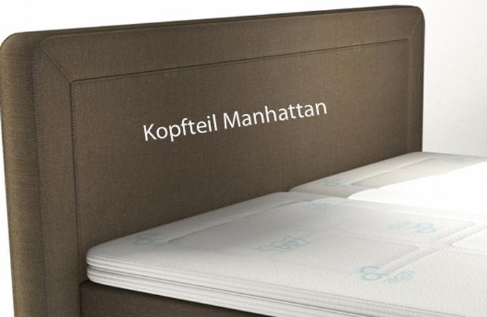 Velda Boxspringbett Metropolitan Kopfteil Manhattan