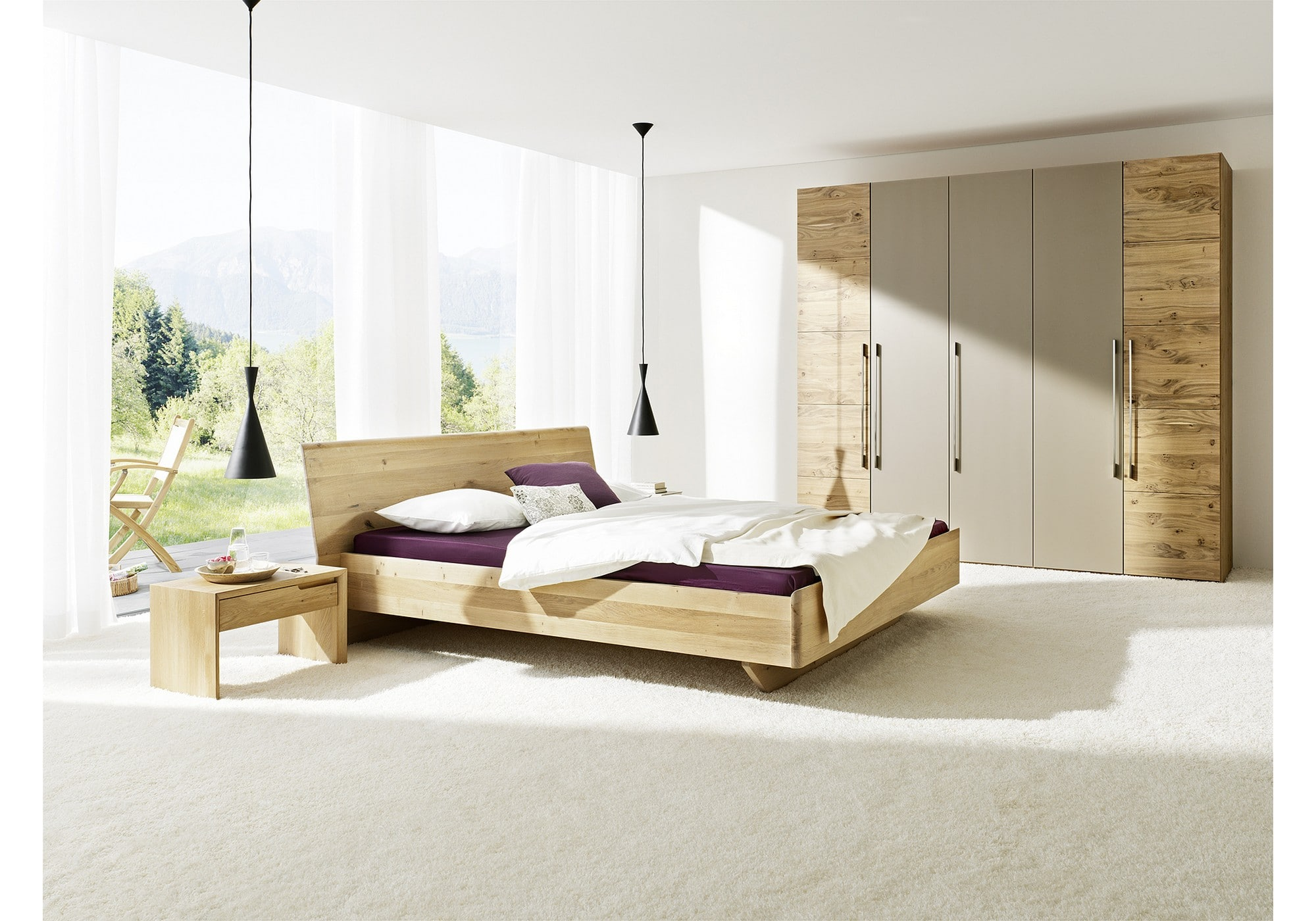 anrei massivholzbett aus zirbenholz tesso betten kraft. Black Bedroom Furniture Sets. Home Design Ideas