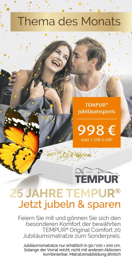 25 Jahre TEMPUR® - Jubiläumsmatratze