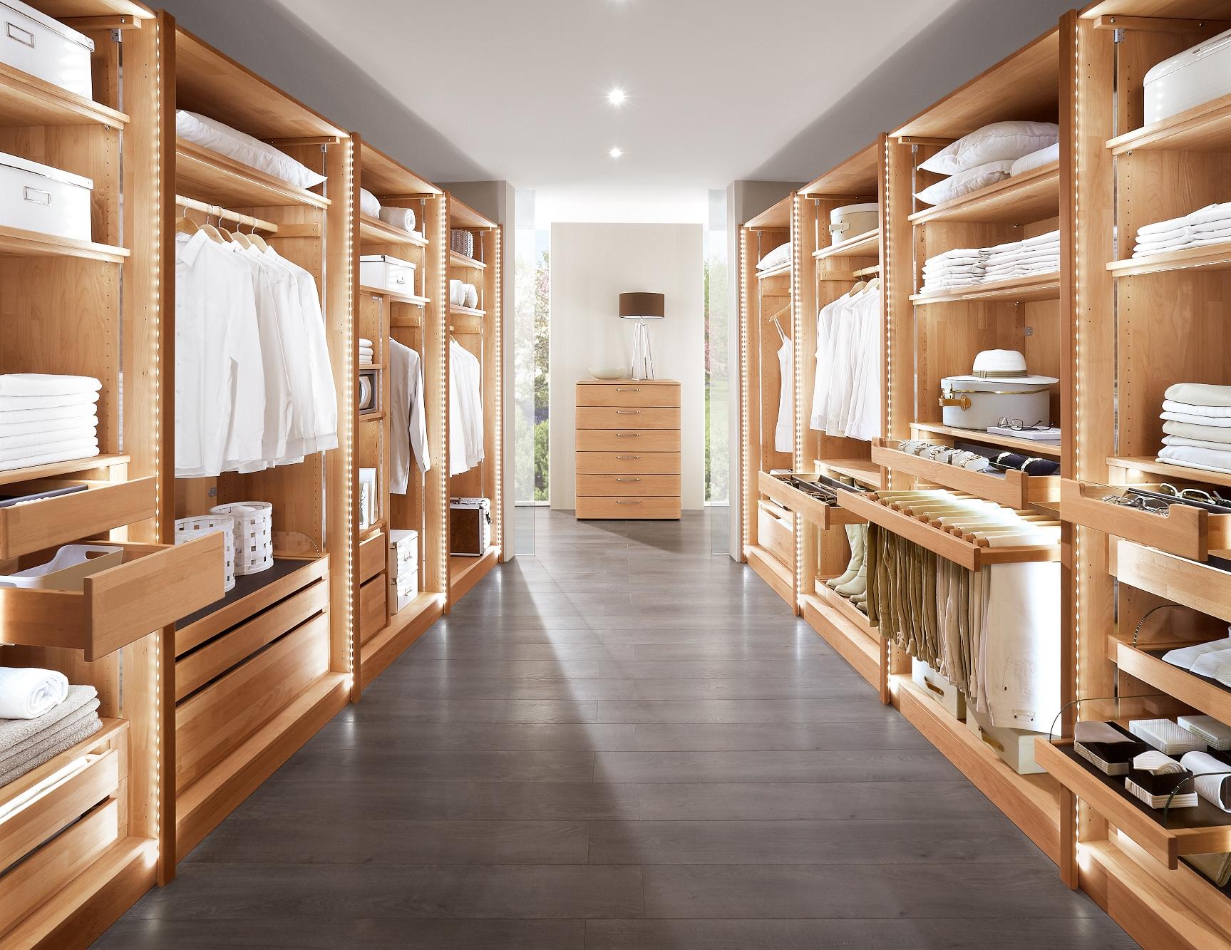 Casa Premium begehbarer Kleiderschrank Buche - offen Web