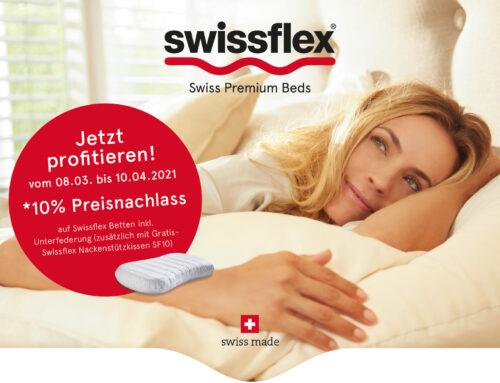 "Swissflex Frühjahrs-Sonderaktion ""SLEEP HOME"""