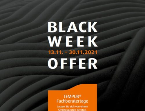 Tempur Black Week Offer – 13.11.-30.11.21